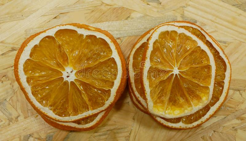 Dried orange slices detail intended for decoration and decorative purposes will accompany the living room. Suitable as royalty free stock photography