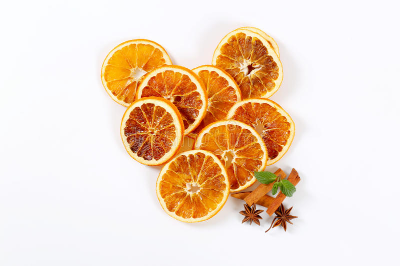 Download Dried oranges with spices stock image. Image of orange - 83709435