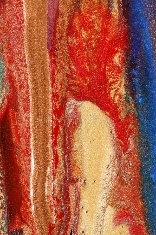 Dried paints stock photography