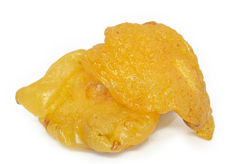 Dried pear stock photo
