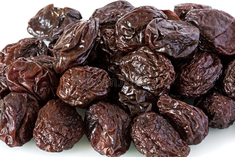Dried prunes royalty free stock photography