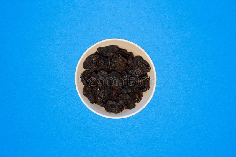 Dried prunes, an excellent ingredient for dishes that are used in a healthy diet royalty free stock image