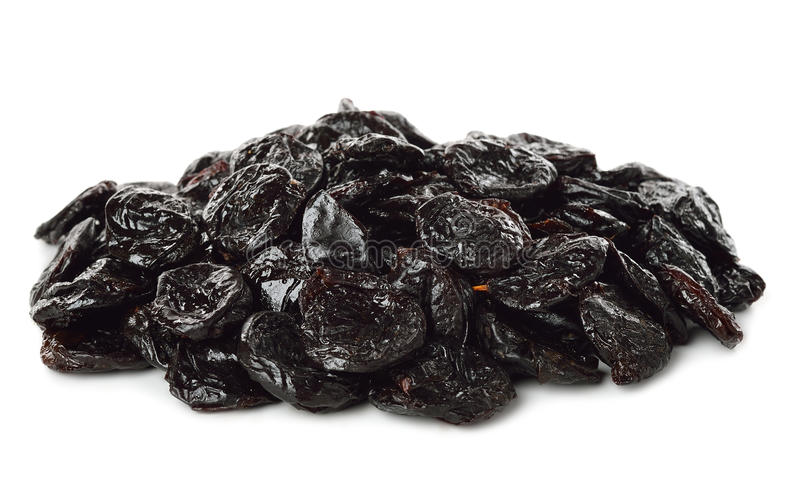 Dried prunes royalty free stock images