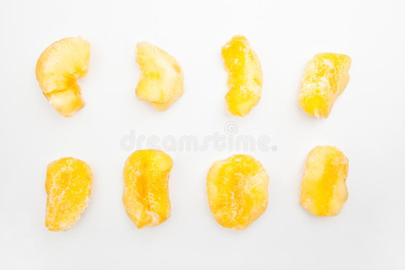 Dried quince white background studio nobody royalty free stock photography