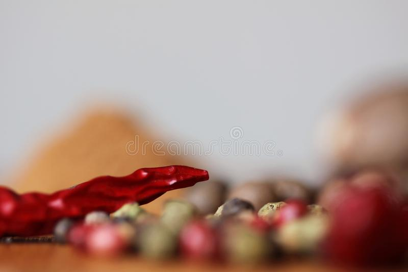 Dried red chilli pepper detail stock images