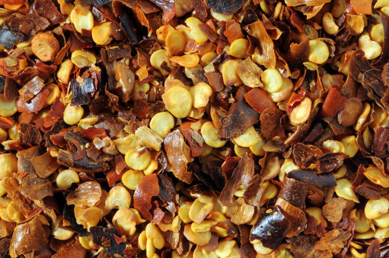 Dried Red Chilly Flakes royalty free stock photography
