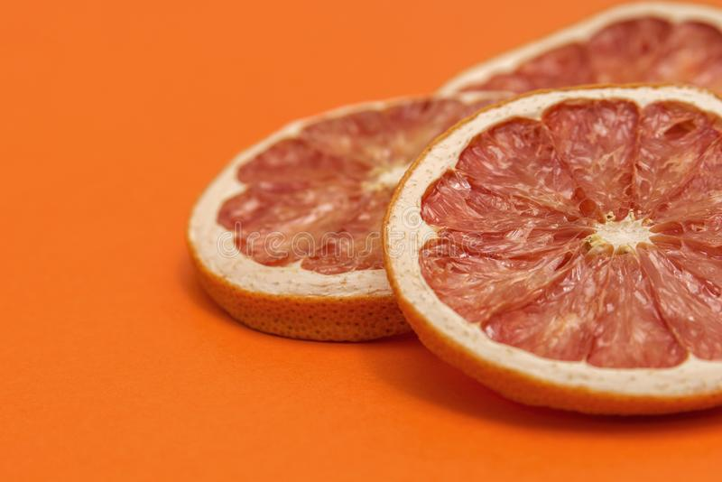 Dried rings of grapefruit royalty free stock images