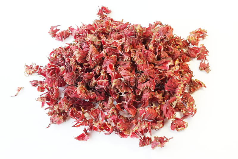 Dried Roselle stock image