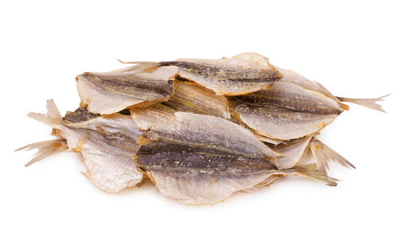 Dried salty yellowstripe scad fish royalty free stock photos