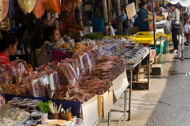 Dried sea food for sell. royalty free stock image
