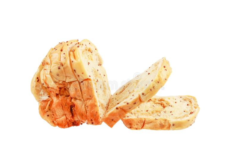 dried shredded pork and sesame bread isolated on white stock images