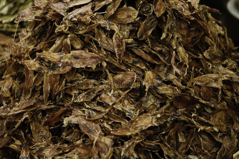 Dried shredded squid royalty free stock images