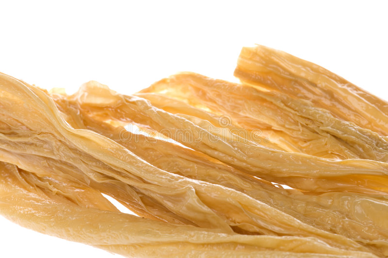 Download Dried Soya Bean Curd Strips Stock Photo - Image: 5888854
