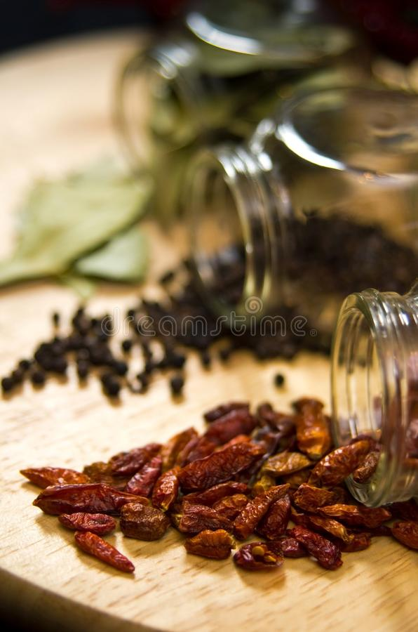 Dried spices still life stock image