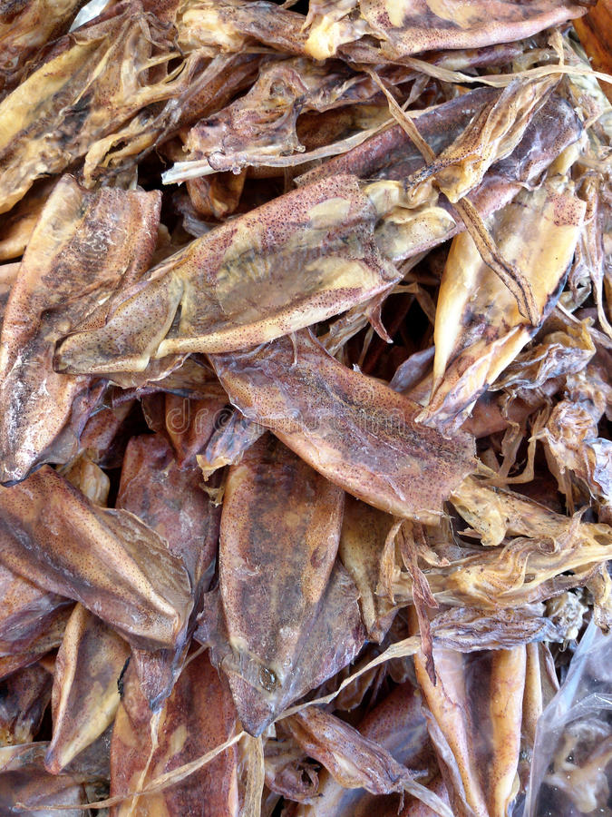 Dried squid royalty free stock photography