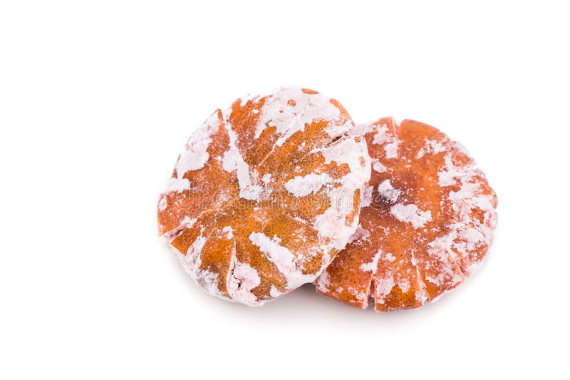 Dried sweetened tangerine, an common ingredient in traditional C. Dried sweetened tangerine, an common ingredient with multiple benefits in traditional Chinese stock image