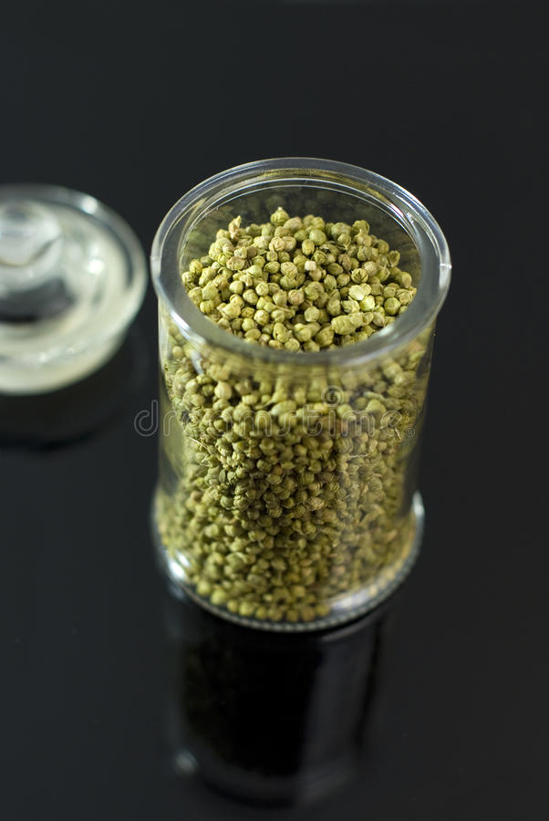 Download Dried Thyme Buds In A Glass Container Stock Photo - Image: 26188152