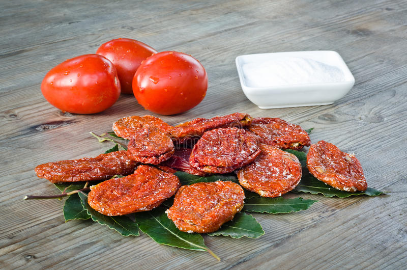 Download Dried tomatoes stock image. Image of cooking, leaves - 23452783