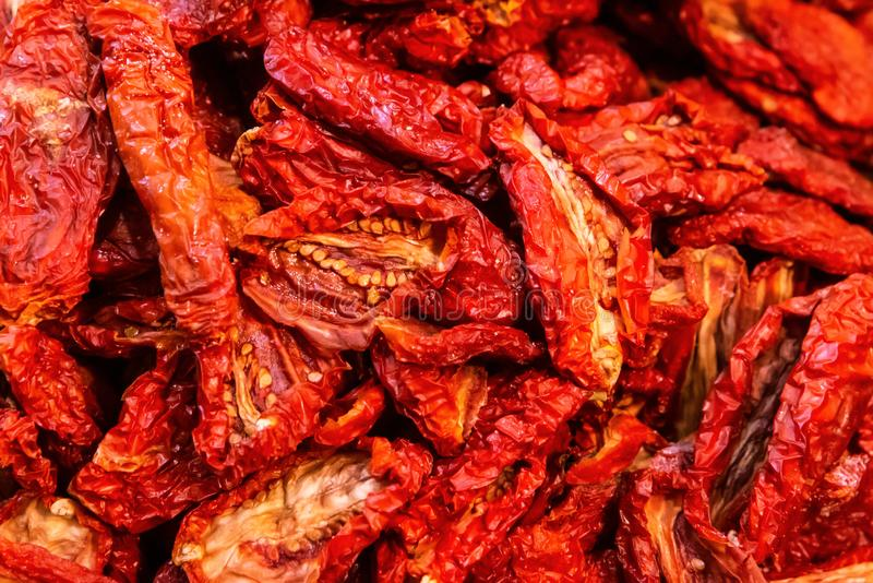 Dried tomatoes royalty free stock images