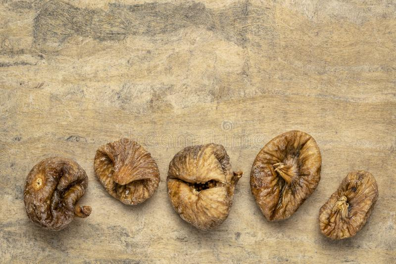 Dried Turkish figs royalty free stock photo