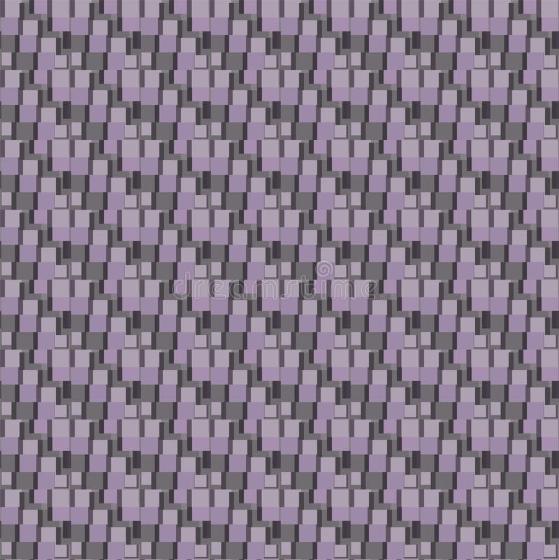 driedimensionele achtergrond met vierkanten royalty-vrije illustratie