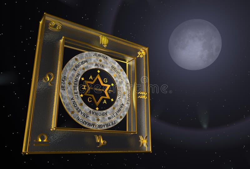 Driedimensionele beelden van de ster van David royalty-vrije stock foto