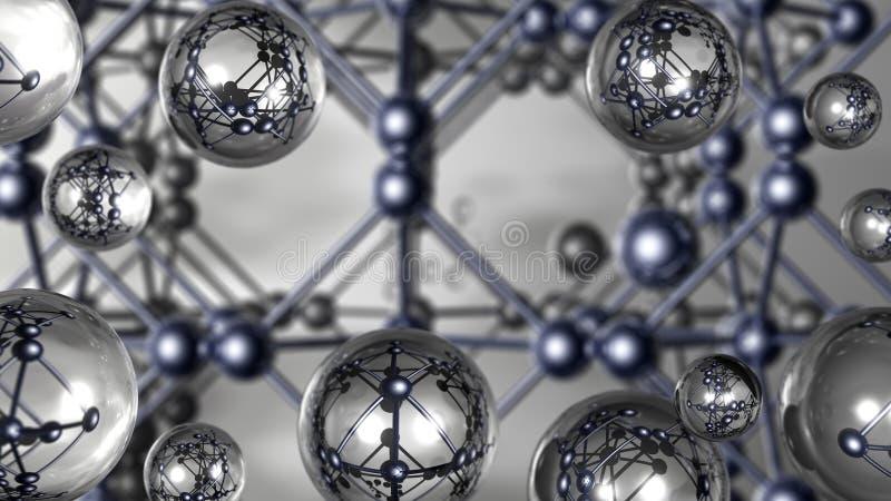 Driedimensionele beelden van zilveren kristal royalty-vrije stock afbeelding