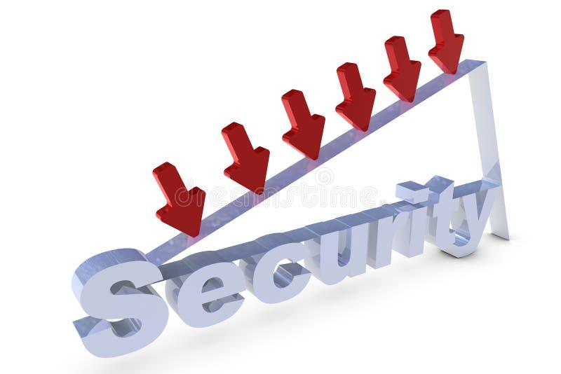 Driedimensionele het teruggeven veiligheidsbrief stock illustratie