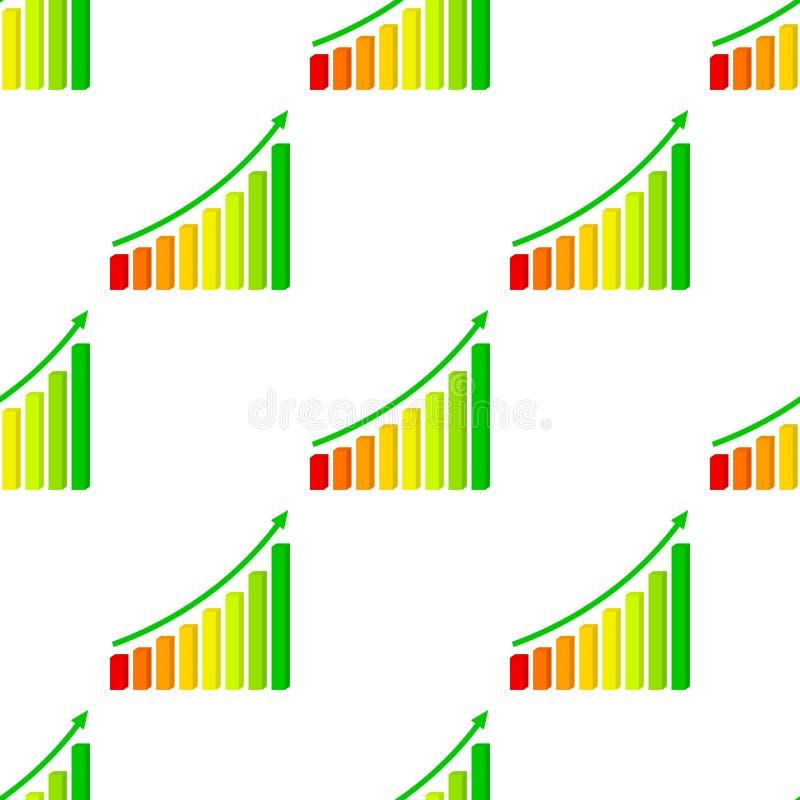 Driedimensionele Omhooggaande Naadloze Grafiek vector illustratie
