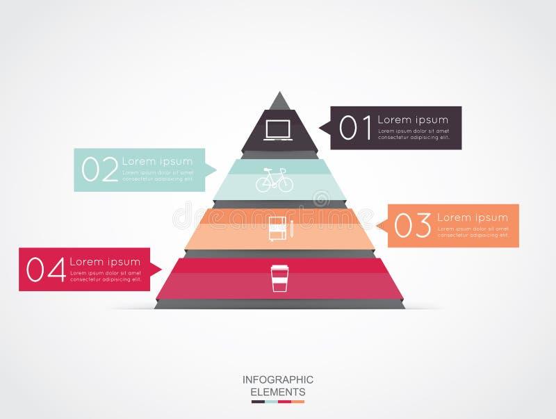Driehoek infographic voor bedrijfsproject royalty-vrije illustratie