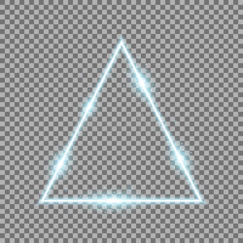 Driehoek met lichten en fonkelingen, aquakleur stock fotografie