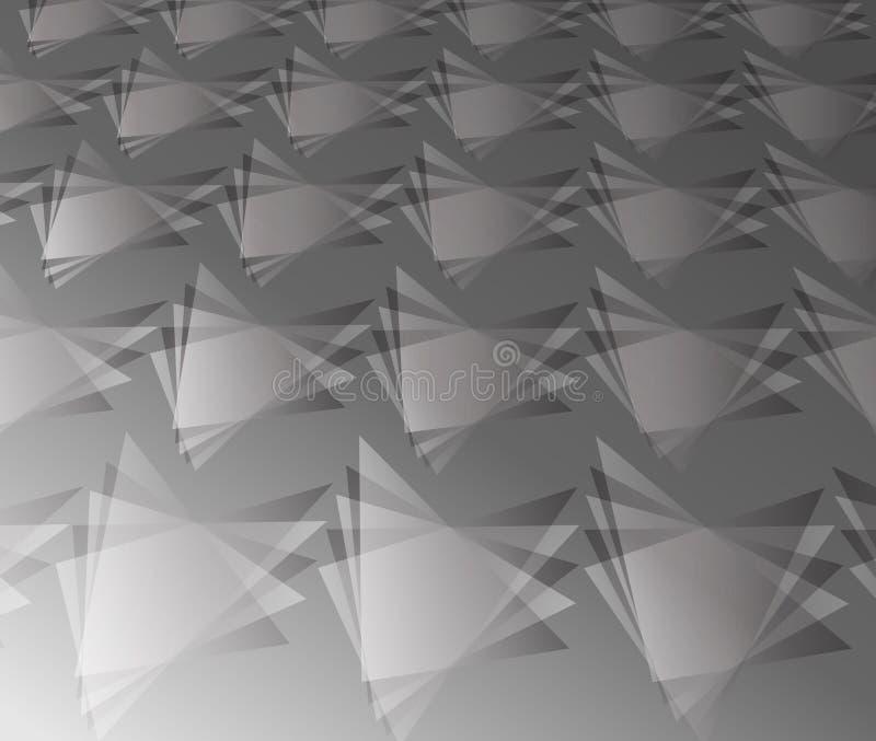 Driehoek van beeld van het afmetings het zwart-witte boekdeel in patroon royalty-vrije illustratie