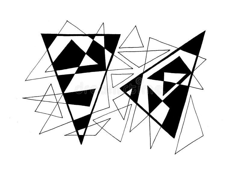 driehoeken royalty-vrije stock afbeelding