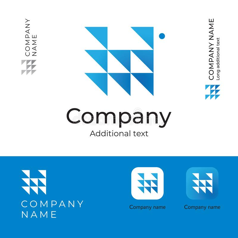 Driehoeken Abstract Modern Logo Design voor App van het de Identiteitsmerk van het Ernstige en Perspectiefbedrijf het Concepten V vector illustratie