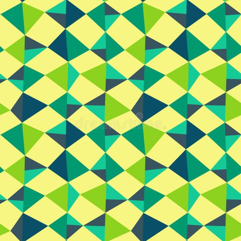 Driehoeken backgound naadloos patroon stock illustratie
