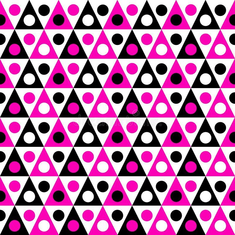 Driehoeken en Cirkels Naadloos Patroon royalty-vrije illustratie