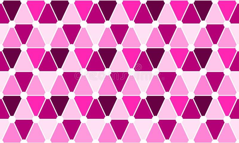 Driehoeken en Cirkels Naadloos Patroon stock illustratie