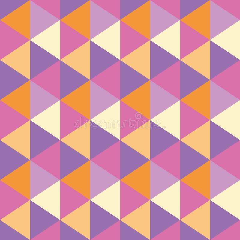 Driehoeken naadloos geometrisch patroon stock illustratie