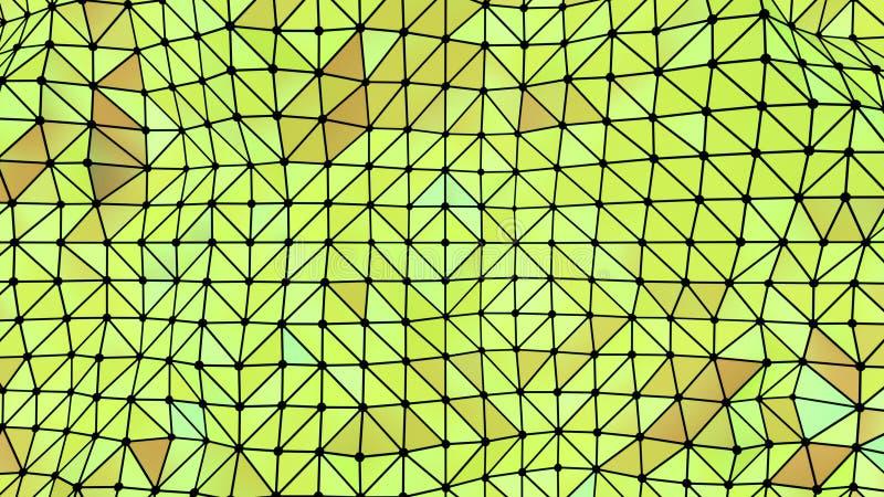 Driehoeken naadloze aarde als achtergrond stock illustratie