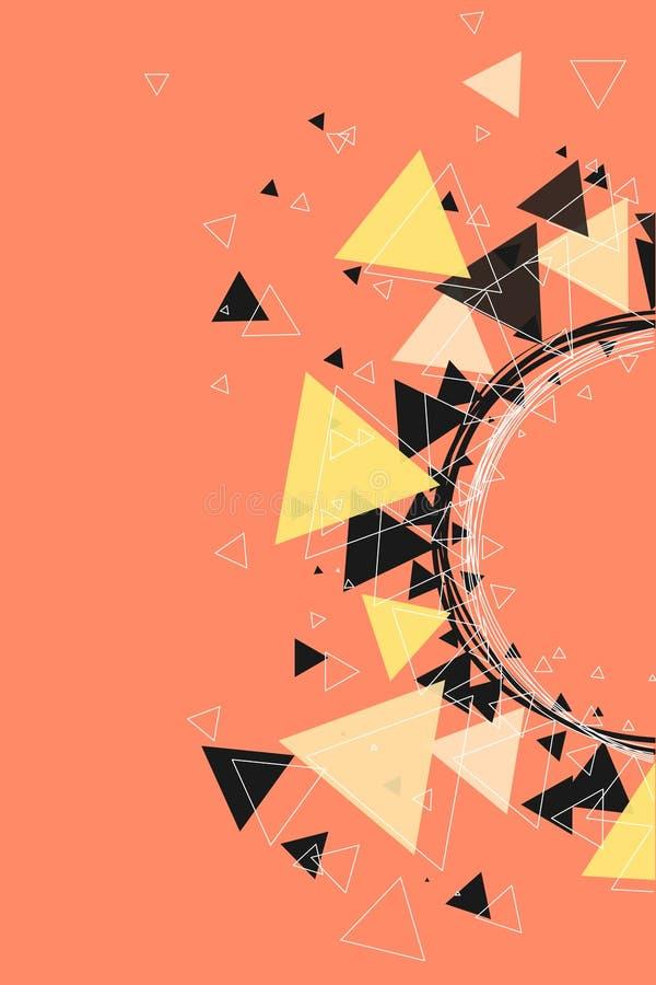 Driehoeken, sterren en de achtergrond van het cirkelpatroon royalty-vrije stock afbeeldingen