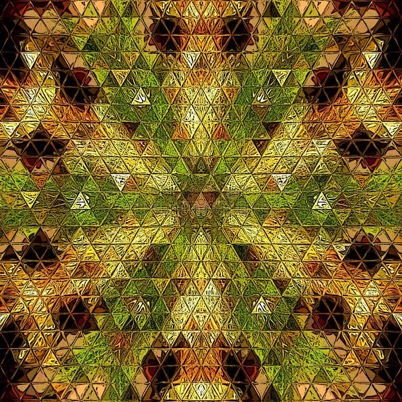 Driehoekenornament met het effect van de Kerstboomslinger royalty-vrije illustratie