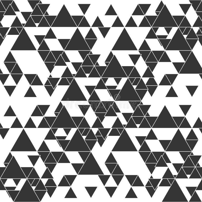 Driehoekig naadloos vectorpatroon Abstracte zwarte driehoeken op witte achtergrond vector illustratie