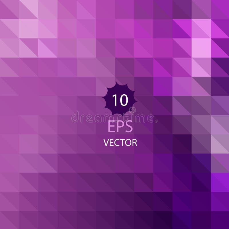 Driehoekig ontwerp met geometrisch mozaïek voor zaken Kleurrijk behang met purpere gradiëntdriehoeken Vector royalty-vrije illustratie