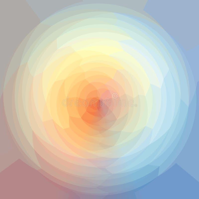 Driehoekig Patroon in Gebied Het Geometrische Patroon van het kleurenspectrum stock illustratie