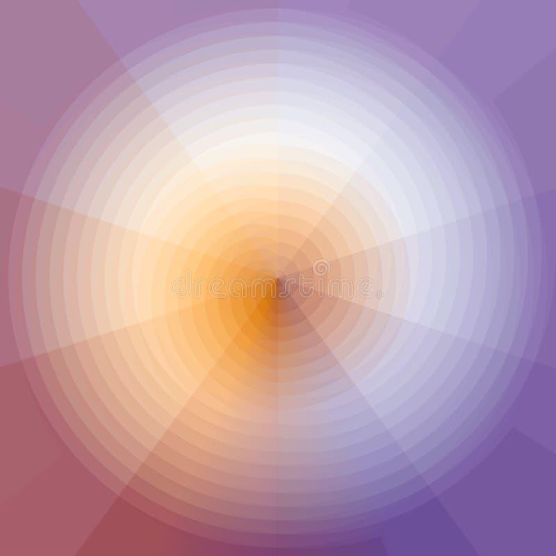 Driehoekig Patroon in Gebied Het Geometrische Patroon van het kleurenspectrum vector illustratie