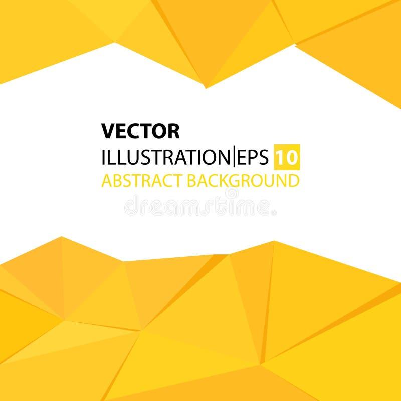 Driehoekige abstracte gele achtergrond royalty-vrije illustratie