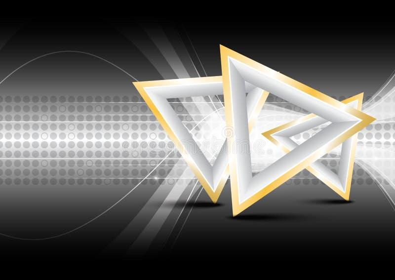 Driehoeks abstracte achtergrond royalty-vrije illustratie
