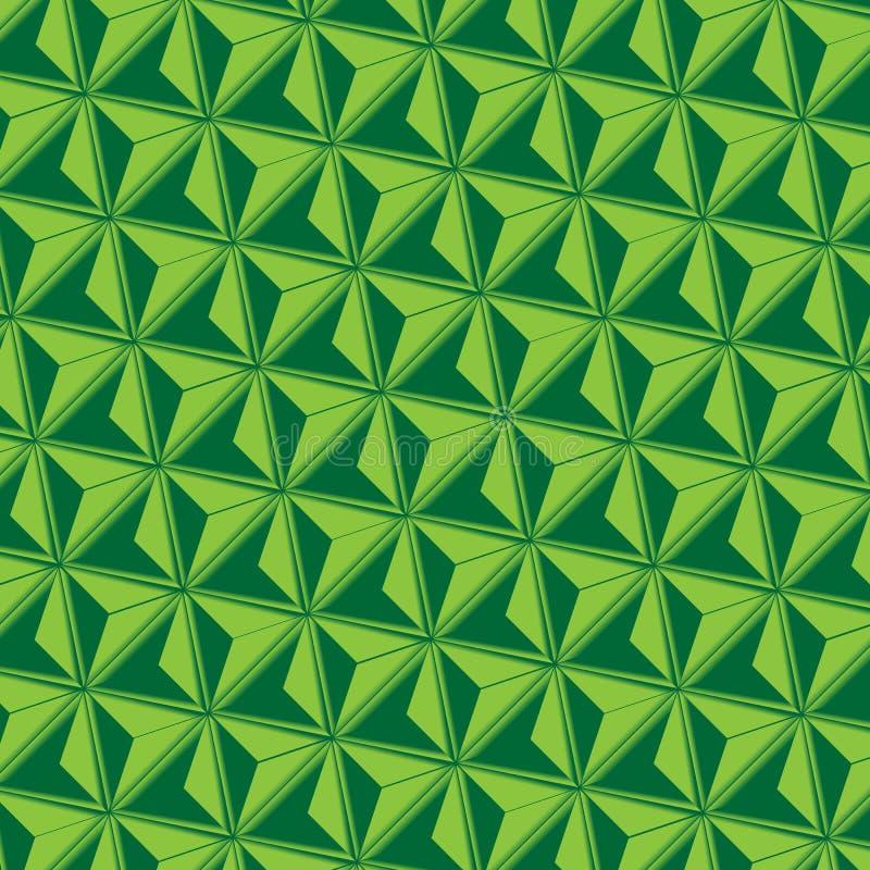 Driehoeks abstracte groene Achtergrond royalty-vrije illustratie