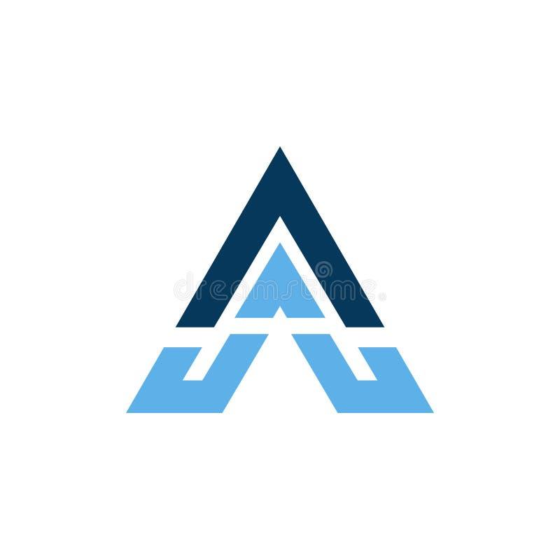 driehoeks bedrijfs vectorembleem royalty-vrije illustratie