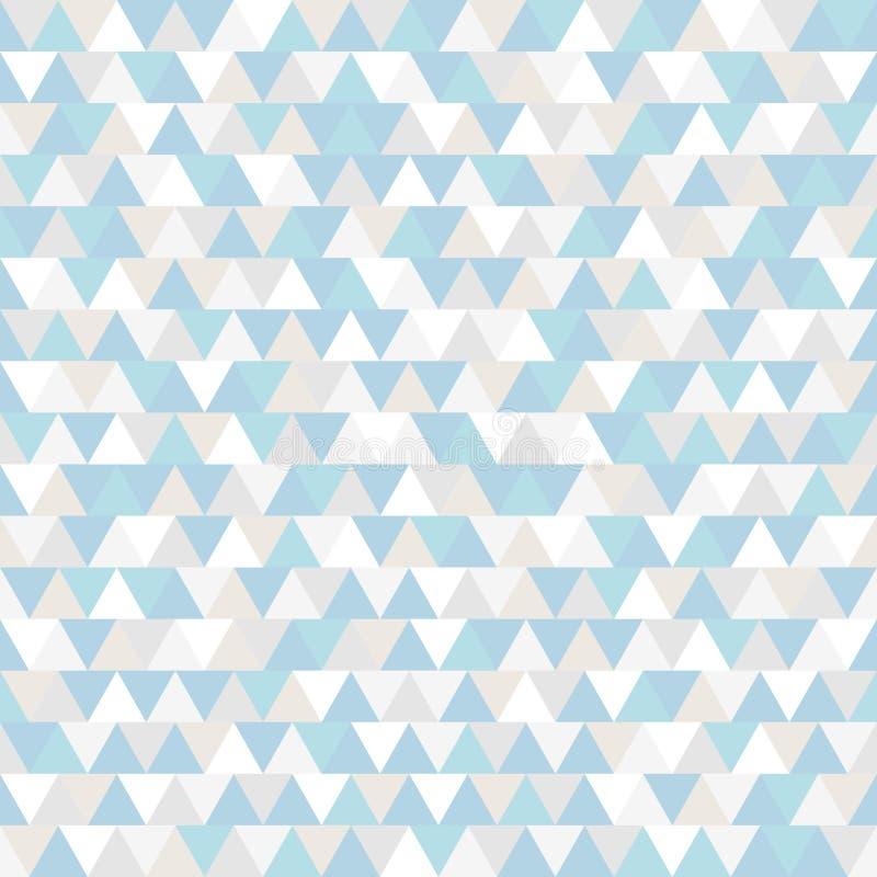 Driehoeks Vectorpatroon De blauwe grijze en witte veelhoekige achtergrond van de de wintervakantie Abstracte Nieuwjaarillustratie royalty-vrije illustratie
